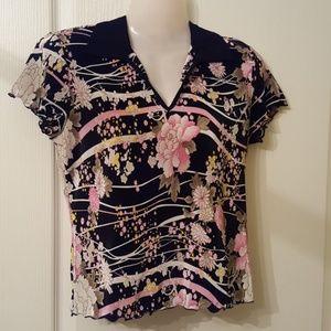 Ladies oriental print top